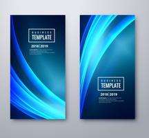 Abstrakt blå affärsmall våg mall design