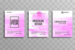 Set of  brochure banner cover layout  business card templates wa