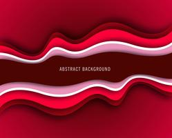 Abstract red creative wavy background vector
