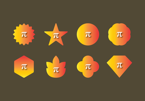 Vetor de símbolo de pi