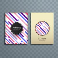 Abstract colorful pattern brochure design illustration