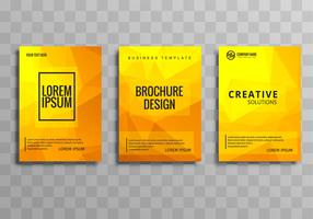 Abstract polygon business brochure template vector