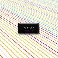 Abstract colorful creative lines pattern vector illustration