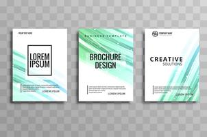 Abstract business brochure set design