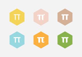 Vecteur symbole pi