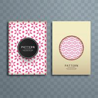 Abstract floral pattern brochure design illustration