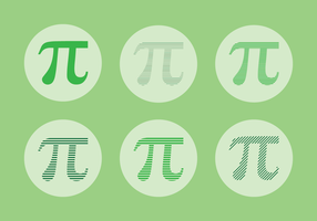 Vector de simbolo de Pi personalizado
