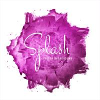 Abstract hand drawn pink watercolor splash background vector