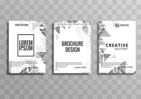 Elegant business brochure polygon template set