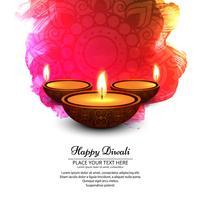 Elegantes glänzendes diwali Festivaldesign