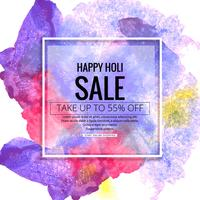 Happy holi festival celebration sale background