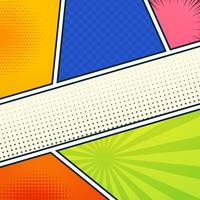 Abstract six empty comic book pages colorful dotted design