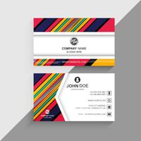 Abstract colorful lines business card creative design