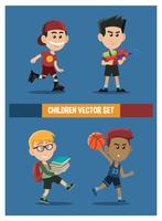 Actividades para niños vector
