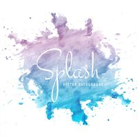 Modern hand drawn watercolor splash background vector