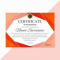 Diplom-Schablonendesign des abstrakten kreativen Zertifikats