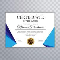 Certificat vecteur moderne fond modèle