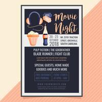 poster di vettore film notte