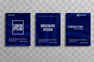Jeu de conception de brochure d'affaires abstrait