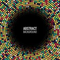 Vecteur de fond abstrait mosaïque colorée