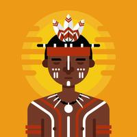 Vetor de personagem indígena