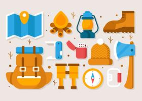 Camping Element Vector