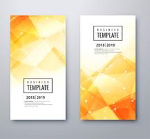Abstrakt polygon business banner mall set design