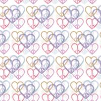 Vector Peace and Love Seamless Pattern