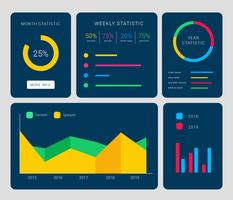Chart UI Kit Vector