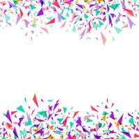 Abstract colorful vector confetti isolated on white background