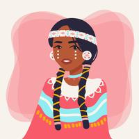 Vettore di persone indigene