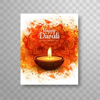 Moderne brochure van Happy Diwali