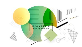 Modern colorful geometric shape memphis background vector