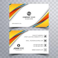 Modern colorful wave business card template design