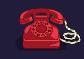 Rotary Telephone Vector Illustration