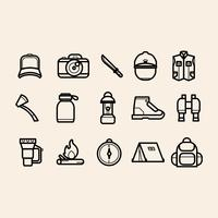 Camping Supplies vector