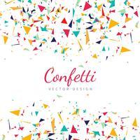 Vector de fondo colorido confeti cayendo