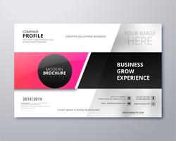 Modern business brochure creative template design