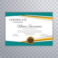 Certificate diploma colorful template design illustration