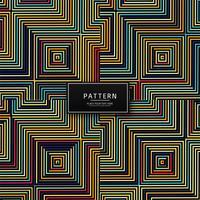 Modélisme de lignes géométriques colorées abstraites