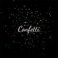 Abstract colorful confetti on a black background illustration