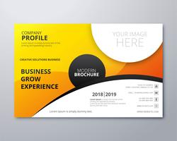 Colorful business brochure template vector wave design