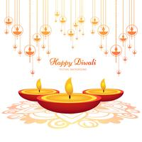 Happy diwali beautiful background