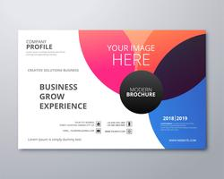 Beautiful colorful business brochure template illustration vecto