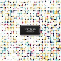 Abstract colorful dots pattern background illustration