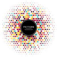 Elegant colorful dots halftone background illustration