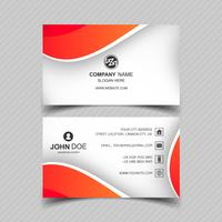 Modern business card template with wave design