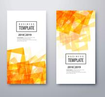 Elegant orange business template set design