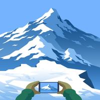 Take A Picture Mountain Landscape First Person Vector