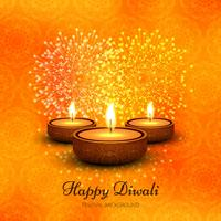 Modern orange diwali design